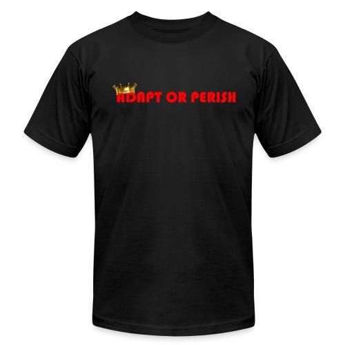 Adapt or Perish (Black) - Men's Fine Jersey T-Shirt