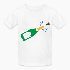Champagne Bottle (dd)++ Kids' Shirts
