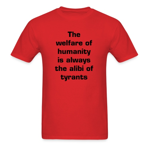Alibi - Red - Men's T-Shirt