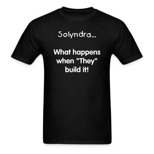 Solyndra - Black - Men's T-Shirt