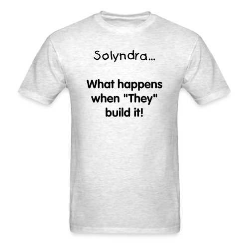 Solyndra - grey - Men's T-Shirt