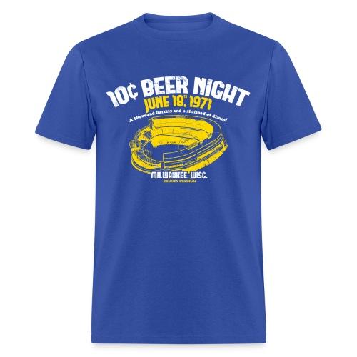 10 CENT BEER NIGHT MILWAUKEE COUNTY STADIUM - Men's T-Shirt