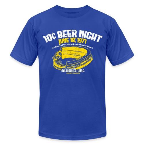 10 CENT BEER NIGHT MILWAUKEE COUNTY STADIUM - Men's Fine Jersey T-Shirt