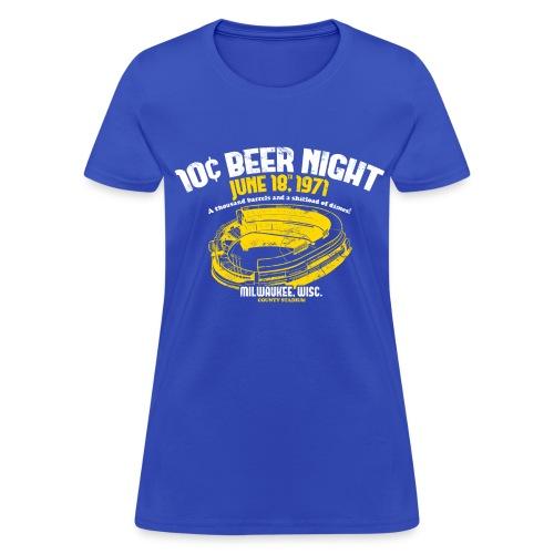 10 CENT BEER NIGHT MILWAUKEE COUNTY STADIUM - Women's T-Shirt