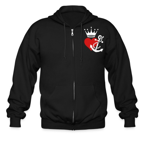 [WTP]: 9 Anchored King Heart zip-up sweater - Men's Zip Hoodie