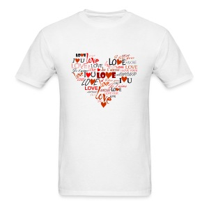 Love Heart T-Shirts - Men's T-Shirt