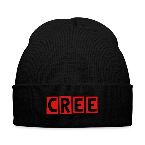 Cree Warrior Arts Red Winter Hat - Knit Cap with Cuff Print