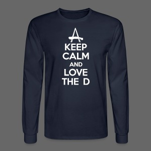 Keep Calm And Love The D - Men's Long Sleeve T-Shirt