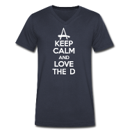 T-Shirts ~ Men's V-Neck T-Shirt by Canvas ~ Keep Calm And Love The D