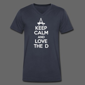 Keep Calm And Love The D - Men's V-Neck T-Shirt by Canvas