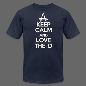 Keep Calm And Love The D - Men's T-Shirt by American Apparel