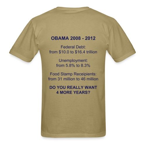 Do you want 4 more years of Obama? - Men's T-Shirt