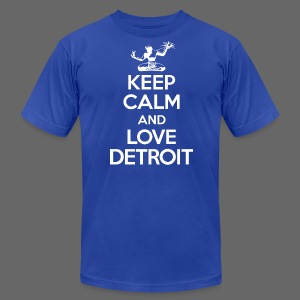Keep Calm And Love Detroit - Men's T-Shirt by American Apparel