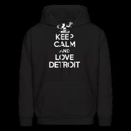 Hoodies ~ Men's Hoodie ~ Keep Calm And Love Detroit
