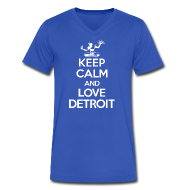 T-Shirts ~ Men's V-Neck T-Shirt by Canvas ~ Keep Calm And Love Detroit