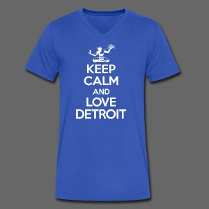 Keep Calm And Love Detroit - Men's V-Neck T-Shirt by Canvas