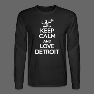 Keep Calm And Love Detroit - Men's Long Sleeve T-Shirt