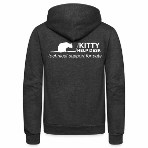 Kitty Help Desk Fleece Hoodie - Unisex Fleece Zip Hoodie