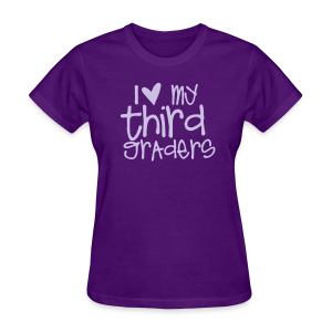 Love My Third Graders | Light Purple - Women's T-Shirt