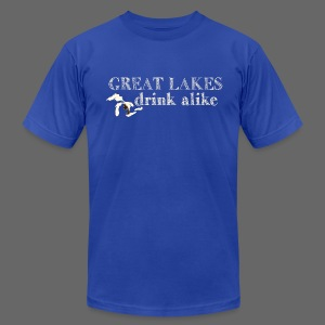 Great Lakes Drink Alike - Men's T-Shirt by American Apparel