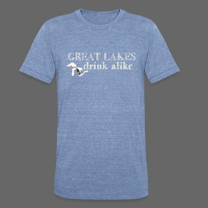Great Lakes Drink Alike - Unisex Tri-Blend T-Shirt by American Apparel