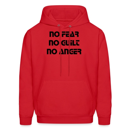 No Fear No Guilt No Anger [ Red ] - Men's Hoodie