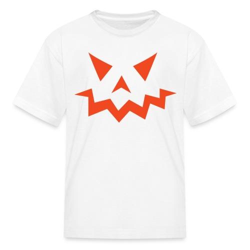 Kids t-shirt * Jack-o'-lantern (pumpkin face 1) (white) - Kids' T-Shirt