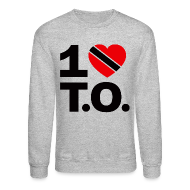Long Sleeve Shirts ~ Men's Crewneck Sweatshirt ~ 1 ♥ Trinidad T.O. Crewneck