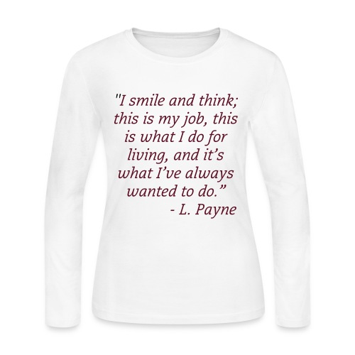 I Smile and Think... - Women's Long Sleeve Jersey T-Shirt