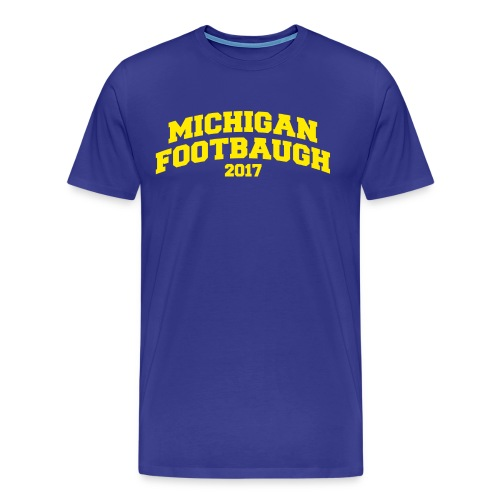Jim Harbaugh Michigan Footbaugh - Blue - Men's Premium T-Shirt