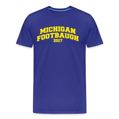 Jim Harbaugh Michigan Footbaugh - Blue - Men's Premium T-Shirt