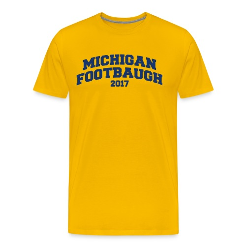 Jim Harbaugh Michigan Footbaugh - Yellow - Men's Premium T-Shirt
