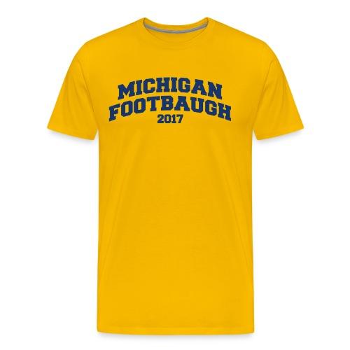Jim Harbaugh Michigan Footbaugh - Yellow - Men's Premium T-Shirt