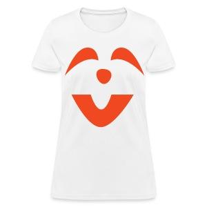 Women's t-shirt * Jack-o'-lantern (pumpkin face 6) (white) - Women's T-Shirt