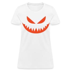 Women's t-shirt * Jack-o'-lantern (pumpkin face 4) (white) - Women's T-Shirt