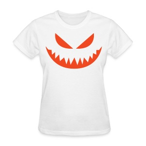 Women's t-shirt * Jack-o'-lantern (pumpkin face 4) (white) - Women's T-Shirt