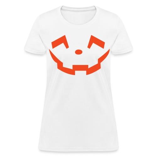 Women's t-shirt * Jack-o'-lantern (pumpkin face 5) (white) - Women's T-Shirt