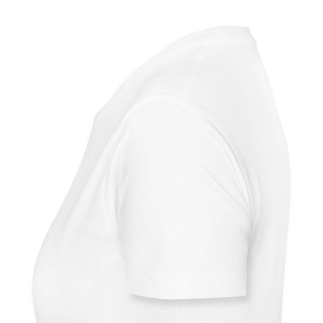 Women's premium t-shirt * Jack-o'-lantern (pumpkin face 3) (white)