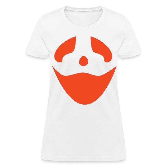 Women's t-shirt * Jack-o'-lantern (pumpkin face 3) (white)