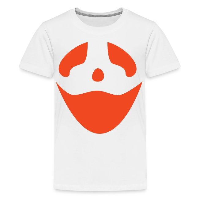Kids premium t-shirt * Jack-o'-lantern (pumpkin face 3) (white)
