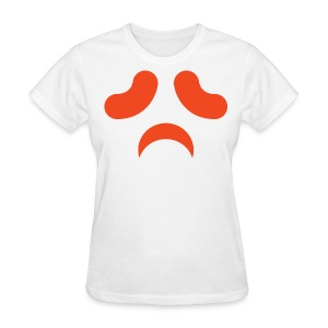 Women's t-shirt * Jack-o'-lantern (pumpkin face 13) (white) - Women's T-Shirt