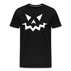 Men's premium t-shirt * Jack-o'-lantern (pumpkin face 1) (black) - Men's Premium T-Shirt