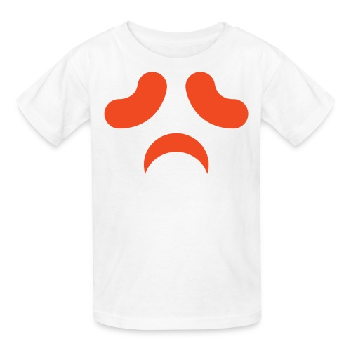 Kids t-shirt * Jack-o'-lantern (pumpkin face 13) (white) - Kids' T-Shirt