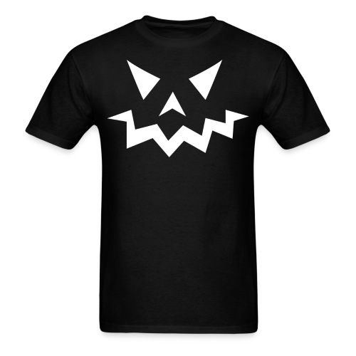 Men's t-shirt * Jack-o'-lantern (pumpkin face 1) (black) - Men's T-Shirt