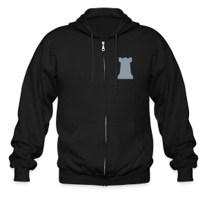 Citadel Crest Men's Zipper Hoodie (logo on back) - Men's Zip Hoodie
