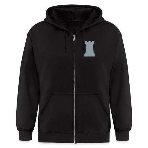 Citadel Crest Men's Zipper Hoodie (logo on back) - Men's Zip Hoodie