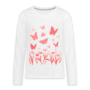 Butterfly Shirts Kid's Long Sleeve T-shirts - Kids' Premium Long Sleeve T-Shirt