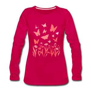 Butterfly Shirts Women's Long Sleeve Shirts - Women's Premium Long Sleeve T-Shirt