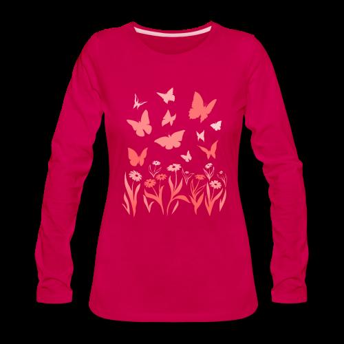 Butterfly Shirts Women's Long Sleeve Shirts - Women's Premium Long Sleeve T-Shirt