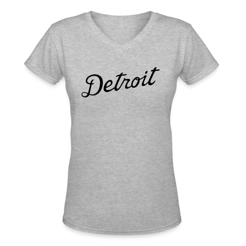 Detroit - Women's V-Neck T-Shirt
